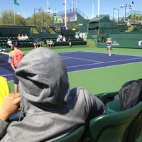 Photo taken at Indian Wells Tennis Garden by Sarah Y. on 3/6/2012