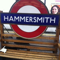 Photo taken at Hammersmith London Underground Station (District and Piccadilly lines) by Laurensa on 6/21/2012