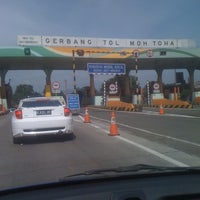 Photo taken at Gerbang Tol Moh. Toha by Hakim A. on 3/12/2012