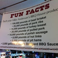 Photo taken at Mike Anderson's BBQ House by Mark T. on 3/16/2012