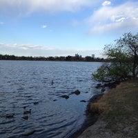 Photo taken at Sloan's Lake Park by Michael D. on 4/22/2012