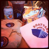 Photo taken at Boatyard Bagel Co. by Lindsey S. on 7/7/2012