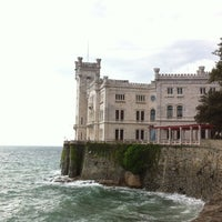 Photo taken at Castello di Miramare by Francesco C. on 4/24/2012