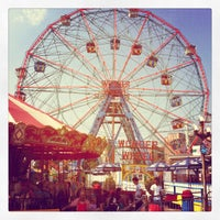 Photo taken at Deno's Wonder Wheel by Kristen H. on 6/21/2012