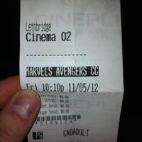 Photo taken at Galaxy Cinemas Lethbridge by Chris C. on 5/12/2012
