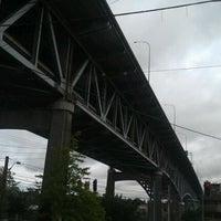 Photo taken at Ship Canal Bridge by Indi G. on 5/23/2012