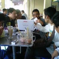 Photo taken at Menyenk Cafe by Hismart H. on 9/2/2012