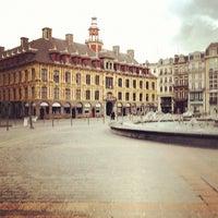 Photo taken at Grand'Place – Place du Général de Gaulle by Cliff W. on 4/15/2012