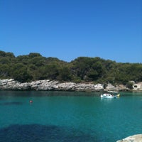 Photo taken at Cala Turqueta by Laura G. on 8/14/2012