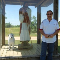 Photo taken at The Good Shepherd Statue at Pawpaw John's, Samantha, AL by Becky W. on 4/15/2012