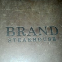 Photo taken at Brand Steakhouse & Lounge by The Lone G. on 9/11/2012