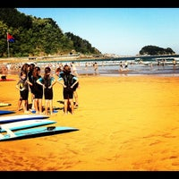 Photo taken at Playa de Zarautz by elena m. on 8/18/2012