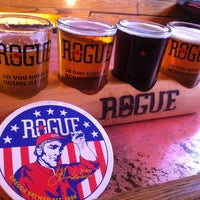 Photo taken at Rogue Ales Public House by christine c. on 2/18/2012