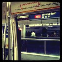 Photo taken at Jurong East MRT Interchange (NS1/EW24) by Gaithri H. on 2/25/2012