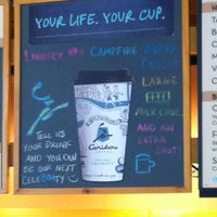 Photo taken at Caribou Coffee by Lindsay L. on 3/29/2012