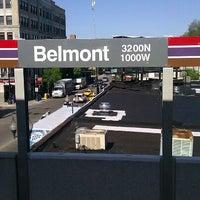 Photo taken at CTA - Belmont (Red/Brown/Purple) by Josh S. on 5/10/2012