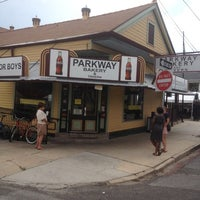 Photo taken at Parkway Bakery & Tavern by Sam W. on 6/6/2012