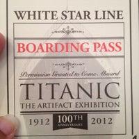 Photo taken at Titanic: 100th Anniversary Exhibit by Marissa E. on 8/5/2012
