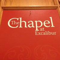 Photo taken at The Chapel at Excalibur by Corey W. on 9/1/2012
