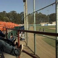 Photo taken at SLO Stadium at Sinsheimer Park by Stephanie O. on 6/16/2012