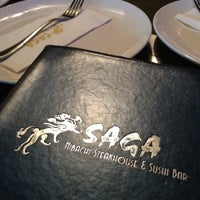 Photo taken at Saga Steakhouse & Sushi Bar by Cassie R. on 6/17/2012