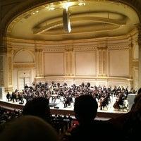 Photo taken at Carnegie Hall by Karl U. on 3/28/2012