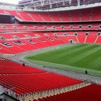 Photo taken at Wembley Stadium by Carlos H. on 4/3/2012