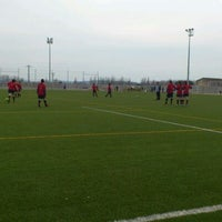 Photo taken at Camp De Futbol De St. Pere Pescador by Jaume S. on 3/4/2012