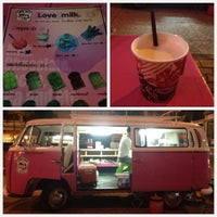 Photo taken at love milk นมรถตู้ชมพู by Pookkypooh C. on 9/12/2012