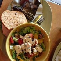 Photo taken at Panera Bread by Karen K. on 8/4/2012