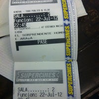 Photo taken at Super Cines 8 by Cristina A. on 7/23/2012