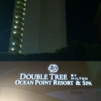 Photo taken at DoubleTree by Hilton Ocean Point Resort & Spa - North Miami Beach by Giovanni V. on 8/2/2012