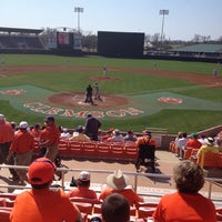 Photo taken at Doug Kingsmore Stadium by Tim C. on 3/18/2012