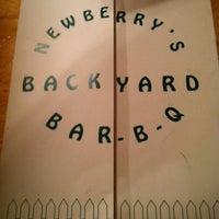 Photo taken at Newberry's Backyard BBQ by Jason G. on 4/10/2012