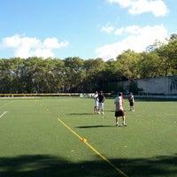 Photo taken at 101 Street Soccer Field by Benjy G. on 9/9/2012