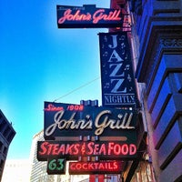 Photo taken at John's Grill by Christopher A. on 8/29/2012