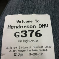 Photo taken at Department of Motor Vehicles by jeb s. on 3/28/2012