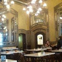 Photo taken at Café Iruña by Joan P. on 4/9/2012