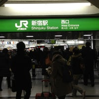 Photo taken at Shinjuku Station by 方向音痴 on 3/5/2012