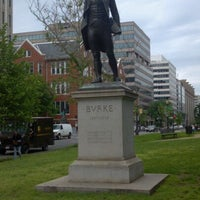 Photo taken at Edmund Burke Statue by Bob E. on 5/9/2012