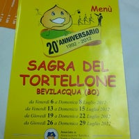 Photo taken at Sagra Del Tortellone by Marco V. on 7/28/2012
