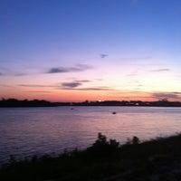 Photo taken at Evansville Riverfront by Katherine W. on 7/29/2012