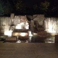Photo taken at Franklin Delano Roosevelt Memorial by Tanya R. on 3/4/2012