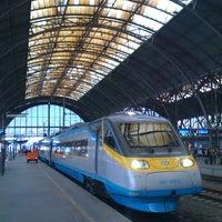Photo taken at Prague Main Railway Station by Honza P. on 8/25/2012
