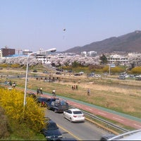 Photo taken at 청주대교 by Agnes N. on 4/15/2012