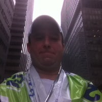 Photo taken at NYRR NYC Half 2012 - Finish Line by Nolan S. on 3/18/2012