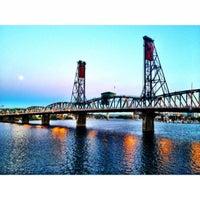 Photo taken at Hawthorne Bridge by Ravi M. on 8/1/2012