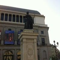 Photo taken at Plaza de Isabel II by Ivan B. on 8/21/2012