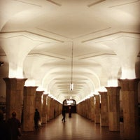 Photo taken at metro Kropotkinskaya by Vladimir on 8/18/2012