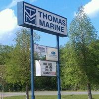 Photo taken at Thomas Marine by David W. on 4/5/2012